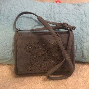 Gray mini purse